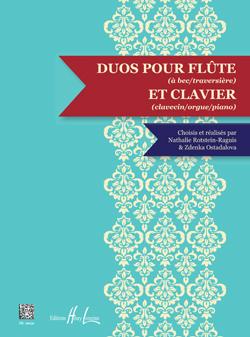 Partition Duos flûte à bec et clavier. Nathalie Rotstein. Editions Henri LEMOINE